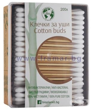 ТУПФИ COTTON BUDS БИО * 200 КУТИЯ - изображение