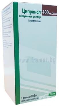 Изображение към продукта ЦИПРИНОЛ флакон 400 мг. / 200 мл. 200 мл.