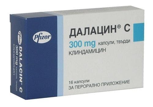 Изображение към продукта ДАЛАЦИН C таблетки 300 мг * 16 PFIZER