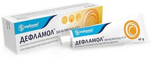 Изображение към продукта ДЕФЛАМОЛ маз 350 IU/400 IU/г 40 г