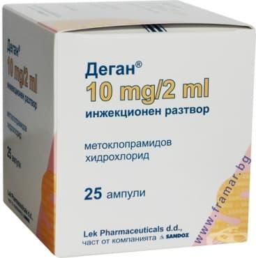 Изображение към продукта ДЕГАН амп. 10 мг. 2 мл. * 25