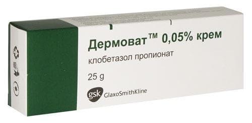 Изображение към продукта ДЕРМОВАТ крем 25 гр. GLAXOSMITHKLINE