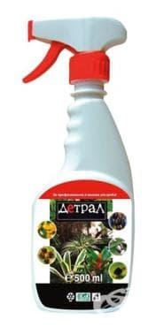 Изображение към продукта ДЕТРАЛ АЕРОЗОЛЕН СПРЕЙ ЗА БОРБА С ВРЕДИТЕЛИ ПО СТАЙНИТЕ РАСТЕНИЯ 500 мл.
