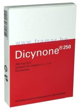 Изображение към продукта ДИЦИНОН ампули 250 мг 2 мл * 1 OM PHARMA