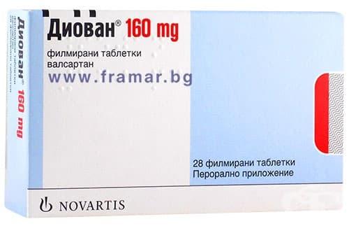 Изображение към продукта ДИОВАН таблетки 160 мг * 28  NOVARTIS PHARMA