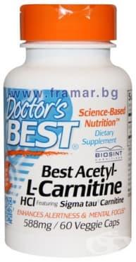 ДОКТОР'С БЕСТ АЦЕТИЛ L-КАРНИТИН капсули 588 мг. * 60 - изображение