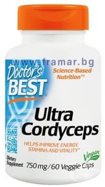 Изображение към продукта ДОКТОР'С БЕСТ УЛТРА КОРДИЦЕПС капсули 750 мг. * 60