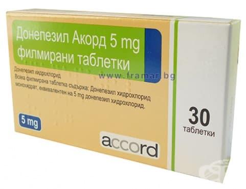 Изображение към продукта ДОНЕПЕЗИЛ филмирани таблетки 5 мг * 30 АКОРД