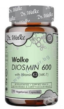 Изображение към продукта ДР. ВОЛКЕ ДИОСМИН + ВИТАМИН К2 600 мг капсули * 70