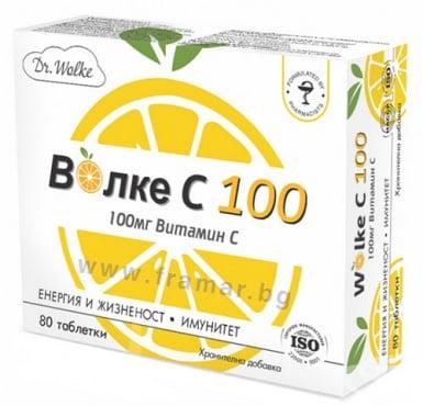 Изображение към продукта ДР. ВОЛКЕ ВИТАМИН C таблетки 100 мг * 80