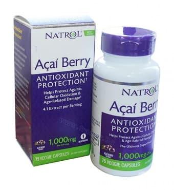 Изображение към продукта НАТРОЛ АКАЙ БЕРИ капсули 1000 мг * 75