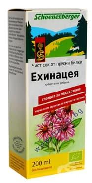 Изображение към продукта БИО СОК ОТ ЕХИНАЦЕЯ 200 мл.
