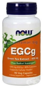 Изображение към продукта НАУ ФУДС EGCG ЗЕЛЕН ЧАЙ ЕКСТРАКТ капсули 400 мг * 90