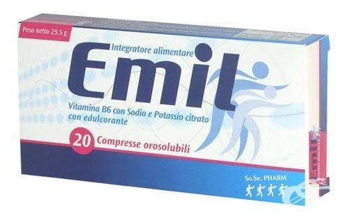 ЕМИЛ табл. за смучене * 20
