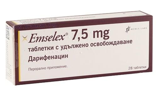 Изображение към продукта ЕМСЕЛЕКС таблетки 7.5 мг * 28