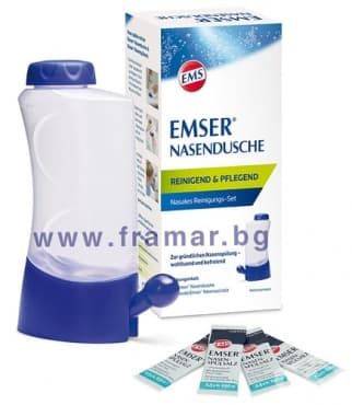 Изображение към продукта НАЗАЛЕН ДУШ EMSER КОМПЛЕКТ С 4 опаковки ФИЗИОЛОГИЧНА СОЛ