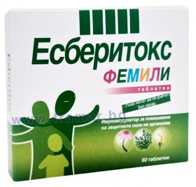 Изображение към продукта ЕСБЕРИТОКС ФЕМИЛИ таблетки * 60
