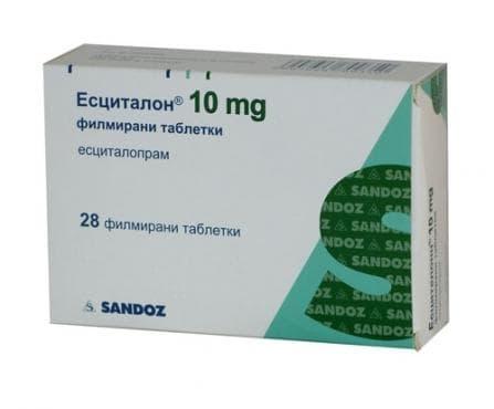 Изображение към продукта ЕСЦИТАЛОН таблетки 10 мг. * 28