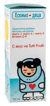 Изображение към продукта ЕСКИМО - 3 ДЕТСКИ СИРОП 105 мл