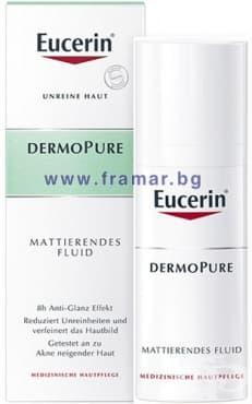 Изображение към продукта ЕУЦЕРИН ДЕРМОПЮР матиращ флуид за лице за кожа, склонна към акне 50 мл.