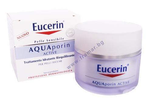 Изображение към продукта ЕУЦЕРИН - AQUA дневен крем за лице за суха кожа 50 мл.