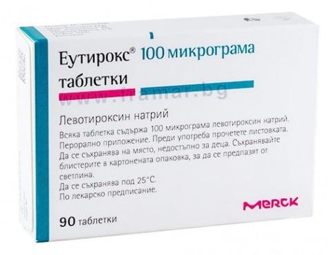 Изображение към продукта ЕУТИРОКС таблетки 100 мкг *  90
