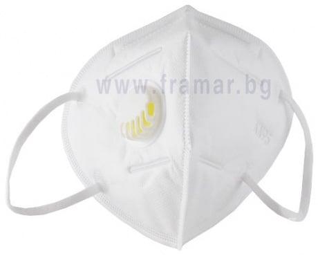 Изображение към продукта ЗАЩИТНА МАСКА ЗА ЛИЦЕ FFP2 KN95  С КЛАПАН * 1