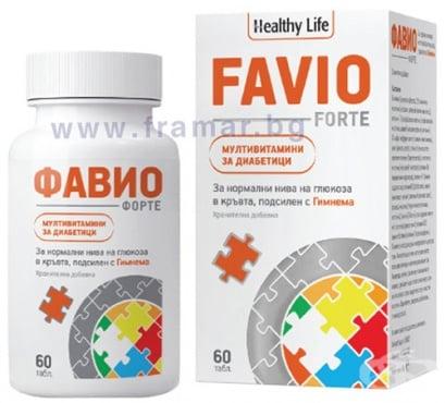 Изображение към продукта ФАВИО ФОРТЕ витамини за диабетици таблетки * 60