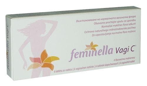 Изображение към продукта ФЕМИНЕЛА VAGI C глобули 250 мг. * 6