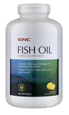 Изображение към продукта РИБЕНО МАСЛО капсули 1000 мг * 360 GNC