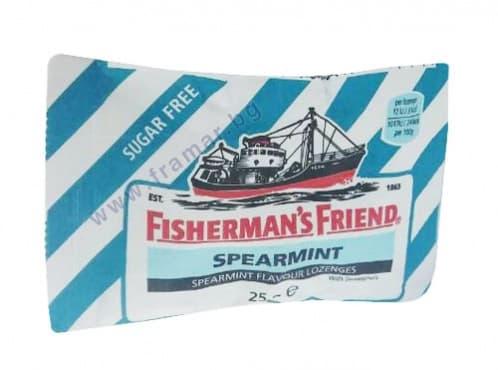 БОНБОНИ FISHERMAN'S FRIEND градински чай без захар 25 гр. - изображение