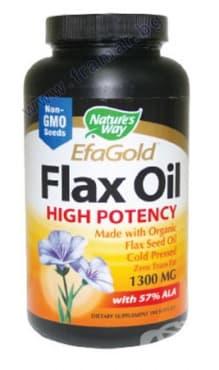 Изображение към продукта ЛЕНЕНО МАСЛО 57% АЛК капсули 1300 мг. * 100 NATURE'S WAY