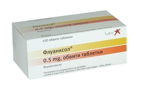 ФЛУАНКСОЛ табл. 0.5 мг. * 100 - изображение