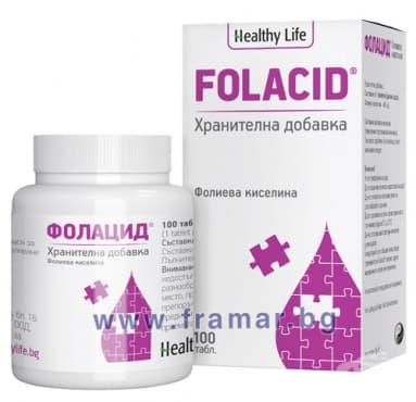 Изображение към продукта ФОЛАЦИД таблетки * 100 ХЕЛТИ ЛАЙФ
