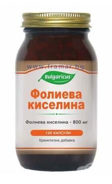 БУЛГАРИКУС ФОЛИЕВА КИСЕЛИНА капсули 800 мг. * 120 - изображение