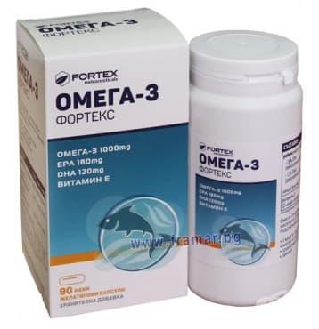 ОМЕГА 3 капс.1000 мг. * 90  ФОРТЕКС - изображение