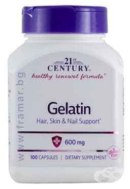 Изображение към продукта 21 СЕНЧЪРИ ЖЕЛАТИН капсули  600 мг. * 100