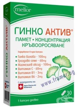 Изображение към продукта ГИНКО АКТИВ капсули * 30 DOYCH