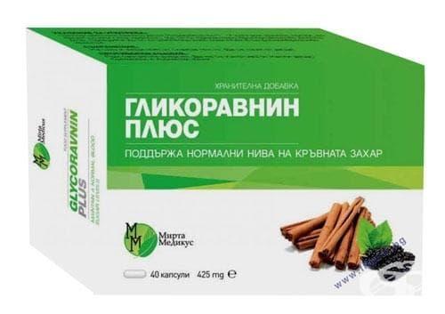 ГЛИКОРАВНИН ПЛЮС капс. 425 мг. * 40 - изображение