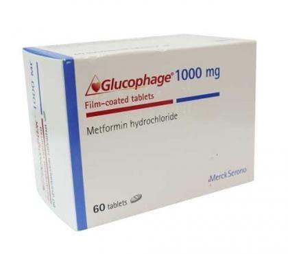 Изображение към продукта ГЛЮКОФАЖ табл. 1000 мг. * 60