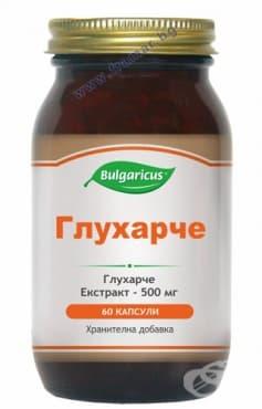 БУЛГАРИКУС ГЛУХАРЧЕ капсули 500 мг. * 60 - изображение