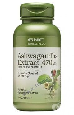 Изображение към продукта АШВАГАНДА ЕКСТРАКТ капсули 470 мг * 100 GNC