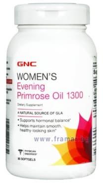Изображение към продукта ВЕЧЕРНА ИГЛИКА гел капсули 1300 мг. * 90 GNC