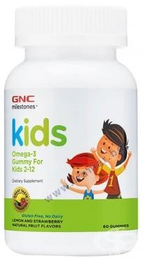 Изображение към продукта КИДС ОМЕГА 3 желирани таблетки * 60 GNC
