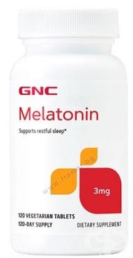 Изображение към продукта МЕЛАТОНИН таблетки 3 мг * 120 GNC