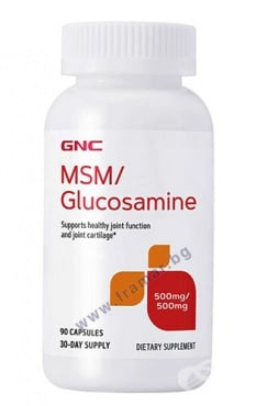 Изображение към продукта МСМ + ГЛЮКОЗАМИН капсули * 90 GNC