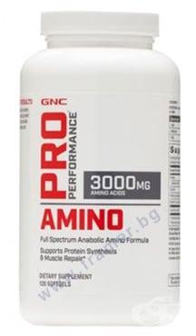 Изображение към продукта АМИНО 3000 мг капсули * 120 GNC