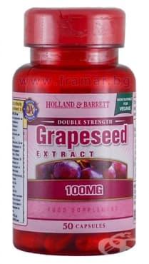 Изображение към продукта ГРОЗДОВО СЕМЕ ЕКСТРАКТ капсули 100 мг * 50 HOLLAND & BARRETT