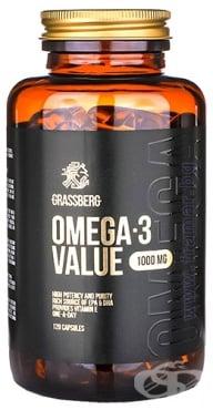 Изображение към продукта ГРАСБЕРГ ОМЕГА 3 капсули 1000 мг * 120