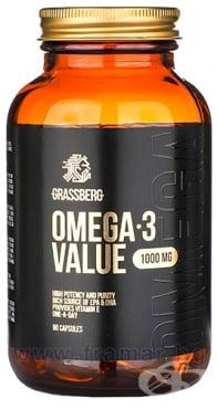 Изображение към продукта ГРАСБЕРГ ОМЕГА 3 капсули 1000 мг * 90